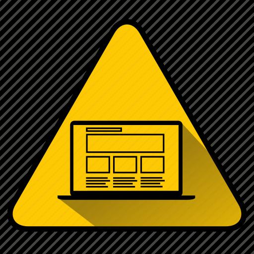 code, coding, computer, laptop, maintenance, under construction, website building icon