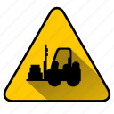 fork lift truck, lift, lifter, loader, warehouse icon