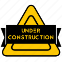 badge, build, construction, maintenance, sign, under construction, website building icon