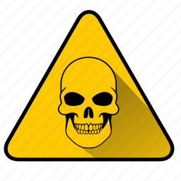 danger, dangerous, hazard, peril, sign, skull, virus icon