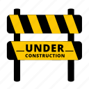 barrier, build, building zone, construction, maintenance, restricted, under construction icon