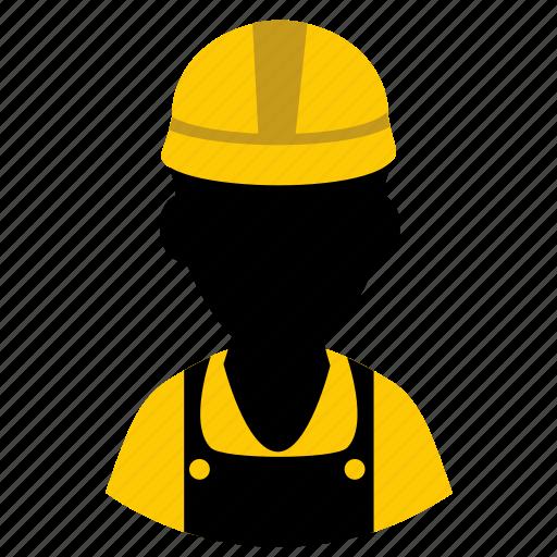 builder, construction, constructor, helmet, laborer, work, worker icon