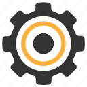 aim, gear, goal, settings icon