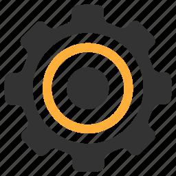 aim, gear, goal, settings icon