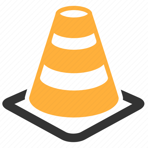 cone, sign, traffic, traffic cone, under construction, warning icon