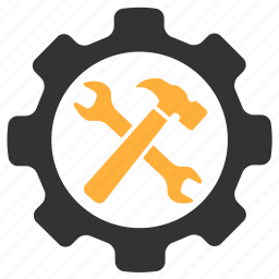 gear, hammer, options, settings icon