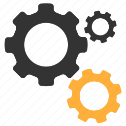 gears, mehanics, options, working icon