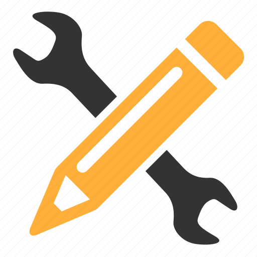 develop, pencil, settings, under construction icon
