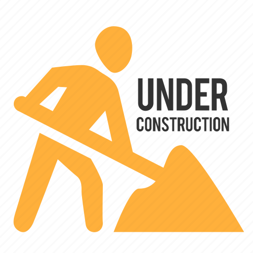 dig, sign, under construction, worker icon