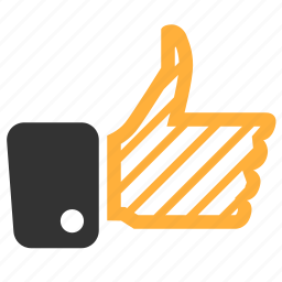 hand, like, thumb up, under construction icon