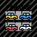 multilevel, parking, equipment, building, barrier