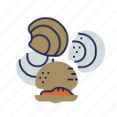 clam, fish, food, food icon, raw food, seafood, underwater icon