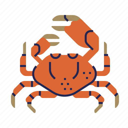 crab, fish, food, food icon, raw food, seafood, underwater icon
