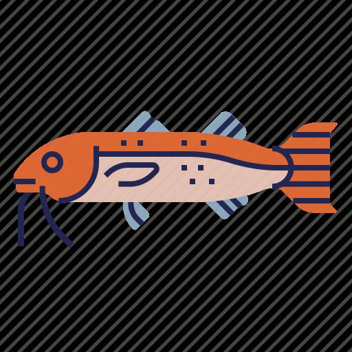 fish, food, food icon, goatfish, raw food, seafood, underwater icon