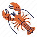 fish, food, food icon, lobster, raw food, seafood, underwater icon