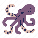 fish, food, food icon, octopus, raw food, seafood, underwater icon