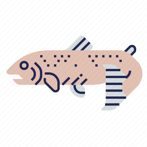 Fish, food, food icon, raw food, salmon, seafood, underwater icon - Download on Iconfinder