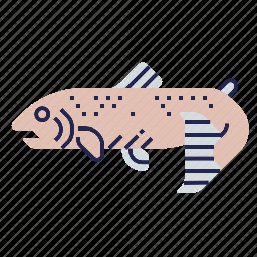 fish, food, food icon, raw food, salmon, seafood, underwater icon