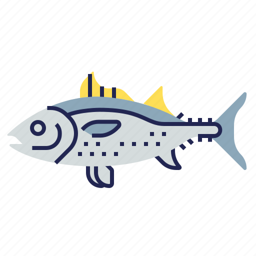 fish, food, food icon, raw food, seafood, tuna, underwater icon