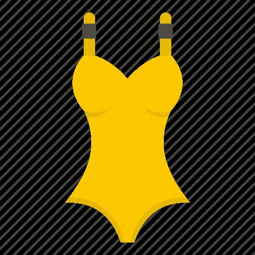 body, female, girl, swimsuit, underwear, woman, yelllow icon