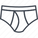 boxers, clothes, line, men, outline, panties, underwear icon