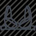 bra, clothes, line, outline, underwear, women icon