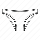 female, line, lingerie, outline, panties, thin, underwear icon