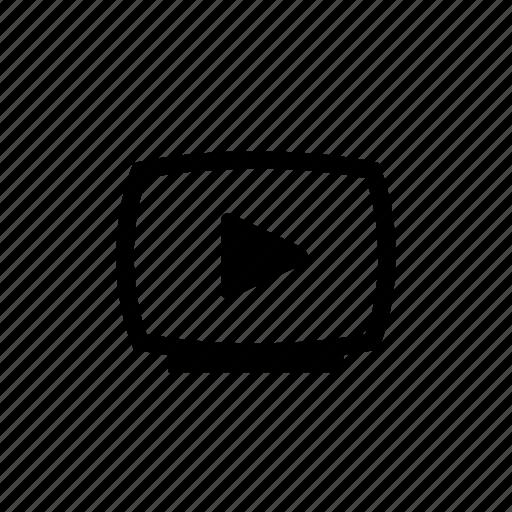 film, media, movie, multimedia, play, tv, video icon