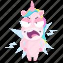 emoji, angry, emoticon, unicorn, smiley, sticker, 🦄 icon
