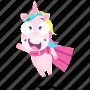 emoji, emoticon, unicorn, smiley, sticker, hero, 🦄 icon