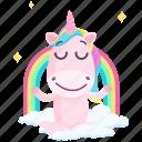 emoji, emoticon, unicorn, rainbow, smiley, sticker, 🦄 icon