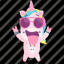 emoji, rocker, emoticon, unicorn, smiley, sticker, 🦄 icon