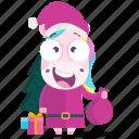 emoji, emoticon, unicorn, santa, smiley, sticker, 🦄 icon