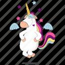 angel, emoji, emoticon, smiley, sticker, unicorn icon