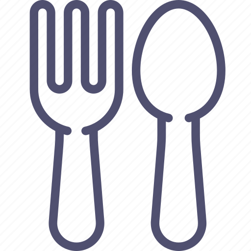 baby, fork, spoon icon