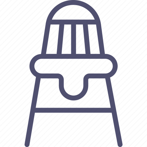 baby, chair, feeding icon