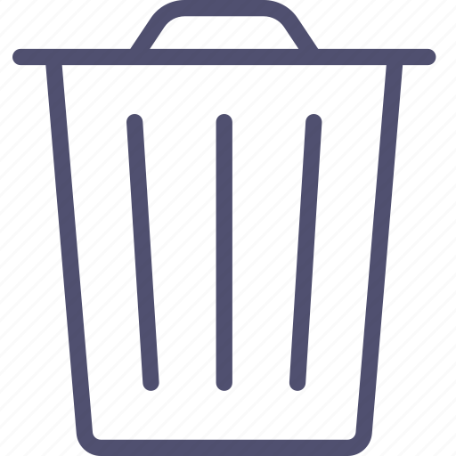 can, delete, garbage, recycle, remove, trash icon