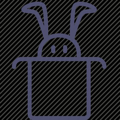 hat, magic, rabbit, wizard icon