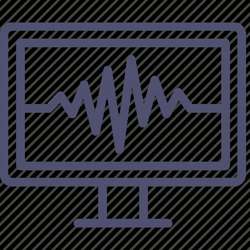 heart, medicine, monitor, pulse icon