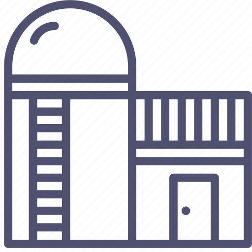 agriculture, barn, building, farm, silo, storage, storehouse, village icon
