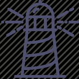 guidance, guide, lighthouse, marine, nautical, navigation icon