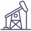 drill, drilling, gas, oil, petroleum, refinery icon