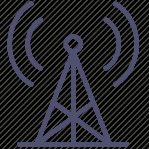 antenna, communication, radio, signal, station, tower icon