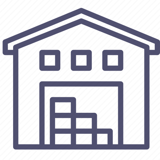 Room Store Warehouse: Building, Depot, Storage, Storehouse, Warehouse Icon