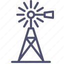 agriculture, farm, generator, mill, village, wind icon
