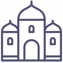 building, mosque, muslim, palace icon