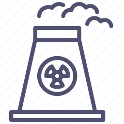 atomic, energy, factory, industrial, industry, nuclear, plant, power icon