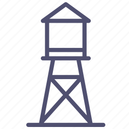 agriculture, farm, supply, tower, village, water icon