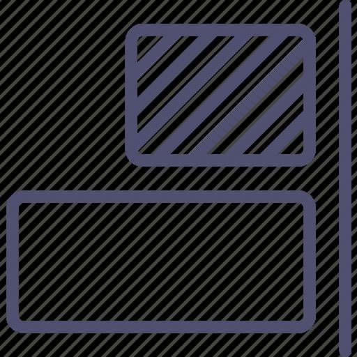 align, horizontal, objects, right, tool icon