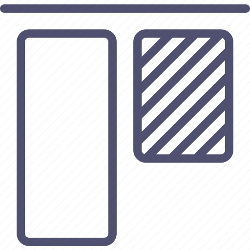 align, objects, tool, top, up, vertical icon